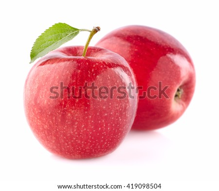 Apples in closeup