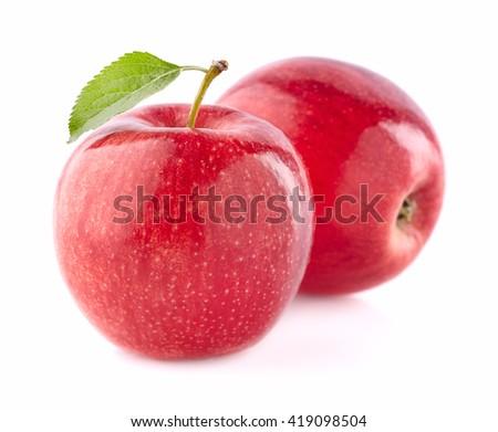 Apples in closeup - stock photo