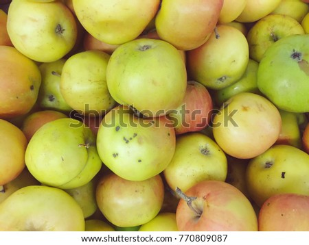 Apples in the store