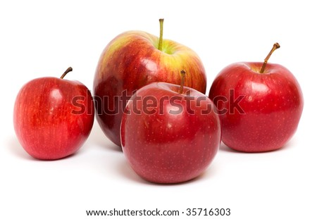 apples isolated on a white background - stock photo