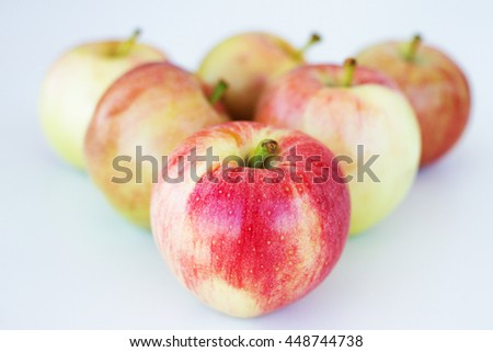 Apples isolated on gray background