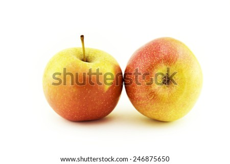 apples isolated on white - stock photo