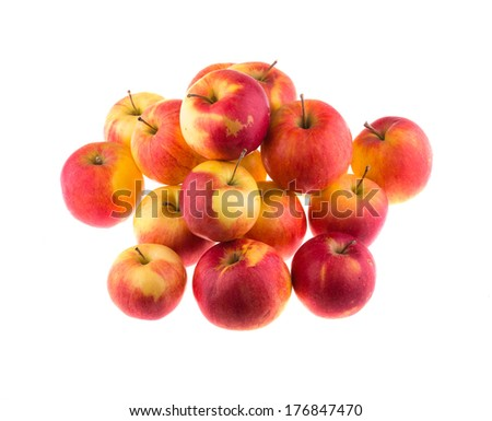 Apples, isolated on white background.