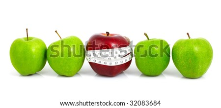 apples measured  the meter, sports apples