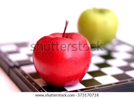 Apples on a chess board