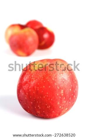 Apples on white background - studio shot - stock photo