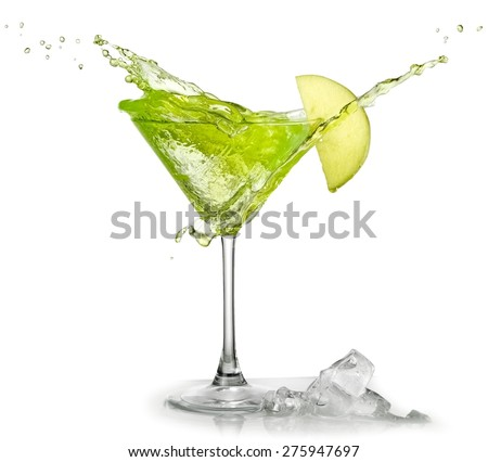 Appletini cocktail up