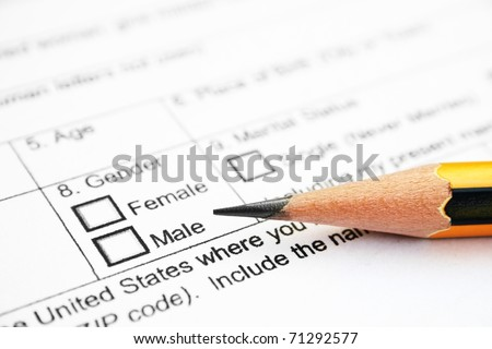 Application form - check male or female