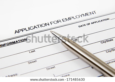 Application form concept for applying for a job - stock photo