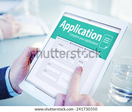 Application Human Resources Hiring Job Recruitment Employment Concept - stock photo