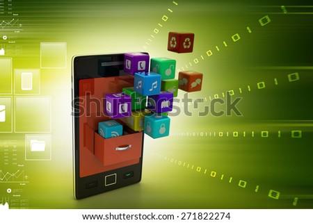 application icon concept - stock photo