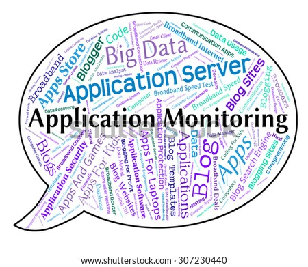 Application Monitoring Representing Monitors Word And Observer