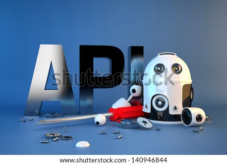 Application programming interface sign. Technology concept - stock photo