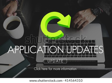 Application Updates Software Download Concept - stock photo