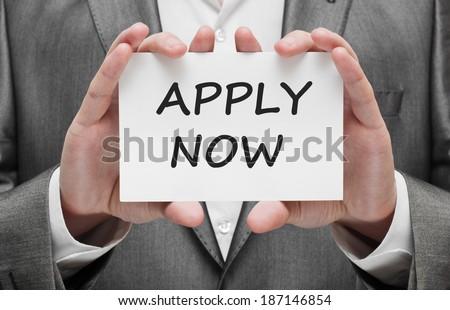 Apply Now - stock photo