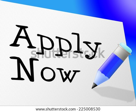 Apply Now Indicating Application Hire And Register