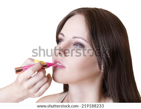 applying make-up model