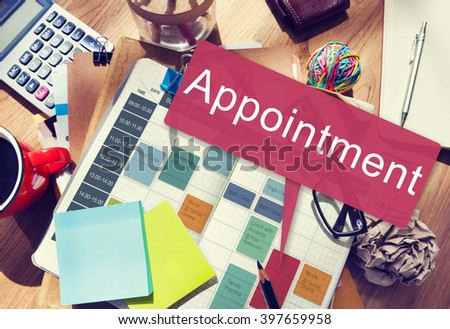 Appointment Appointing Arrangement Calendar Concept - stock photo