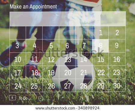 Appointment Calendar Agenda Schedule Planning Concept - stock photo