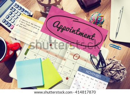 Appointment Planner Schedule Planning To Do List Concept - stock photo