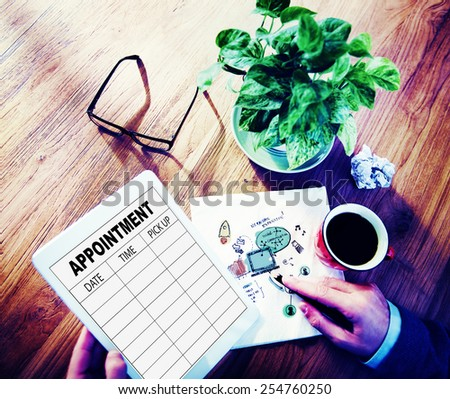 Appointment Schedule Memo Management Organizer Urgency Concept - stock photo
