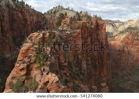 Approach to Angel's Landing, Zion National Park, Utah