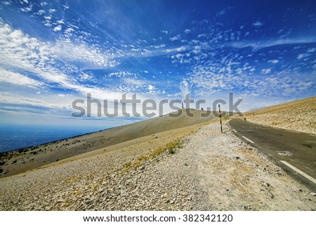 Approaching the Summit of Mont Ventoux, Provence, France