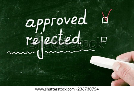 approved concept - stock photo