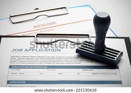 Approved for new job - stock photo