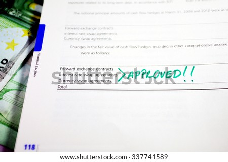 Approved Mark Next Forward Exchange Contracts Stock Photo