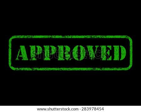 approved rubber stamp - stock photo