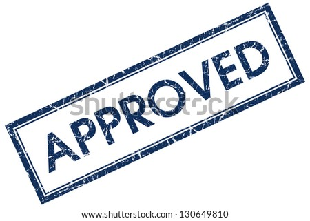 approved stamp - stock photo