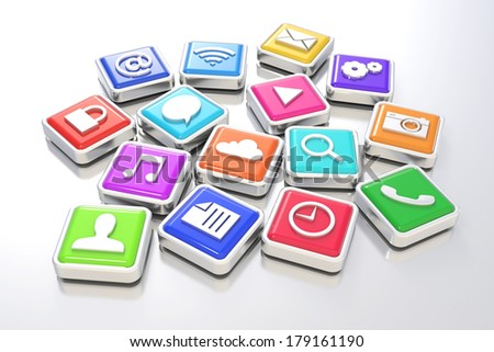 Apps icons - stock photo