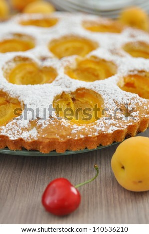 Apricot Cake with Cherries