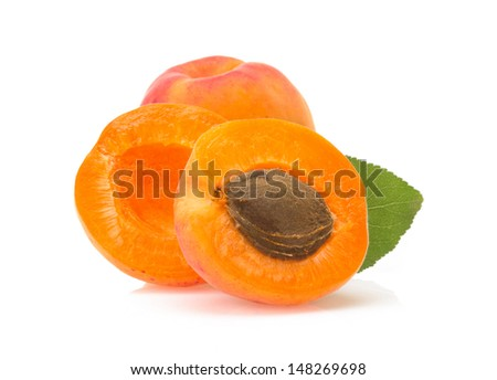 apricot fruit isolated on white background