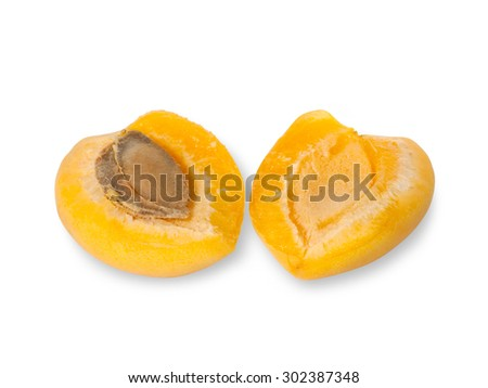apricot fruits isolated on white background