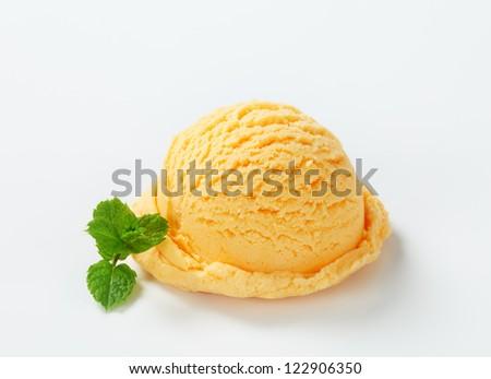 Apricot ice cream  - stock photo