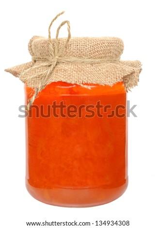 Apricot jam - stock photo