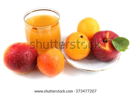 Apricots, nectarines and juice