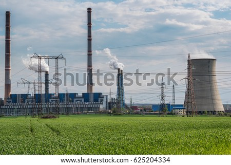 April 15, 2017- Bulgaria; Thermal power station Maritza Iztok. Bulgaria