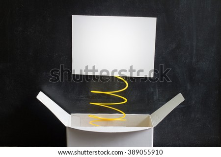 April Fool's Day Abstract box with surprise and joke - stock photo