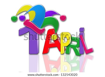 April Fools Day - stock photo