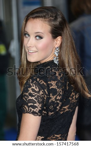 April Pearson arriving for the UK premiere of Filth held at the Odeon - Arrivals London. 30/09/2013