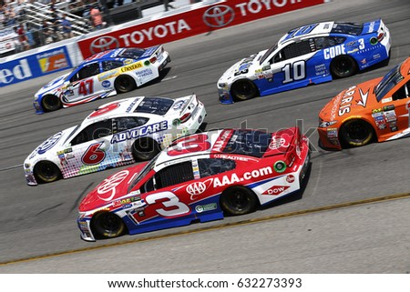 April 30, 2017 - Richmond, Virginia, USA: Austin Dillon, Trevor Bayne, A.J. Allmendinger and Danica Patrick  battle for position during the Toyota Owners 400 at Richmond International Speedway.