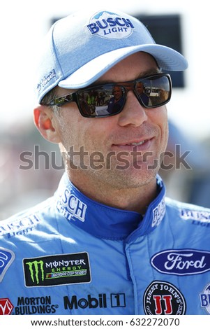 April 28, 2017 - Richmond, Virginia, USA: Kevin Harvick (4) shares a smile before qualify for the Toyota Owners 400 at Richmond International Speedway in Richmond, Virginia.