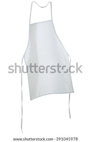 Apron isolated over white background - stock photo