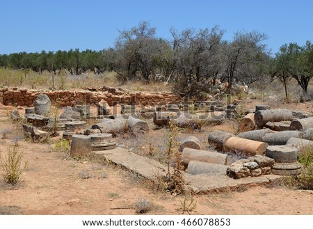 Aptera Archaeological Site, remains of a Villa