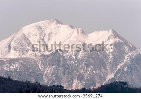 apuan alps - stock photo