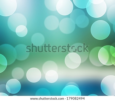 Aqua Bokeh Backdrop - stock photo