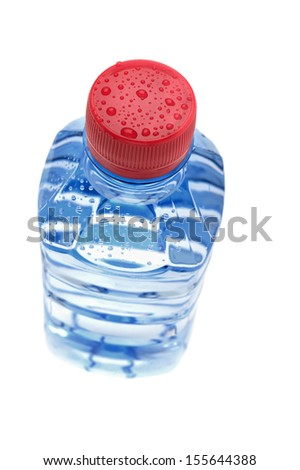 Aqua bottled, transparent, Isolated on white. - stock photo